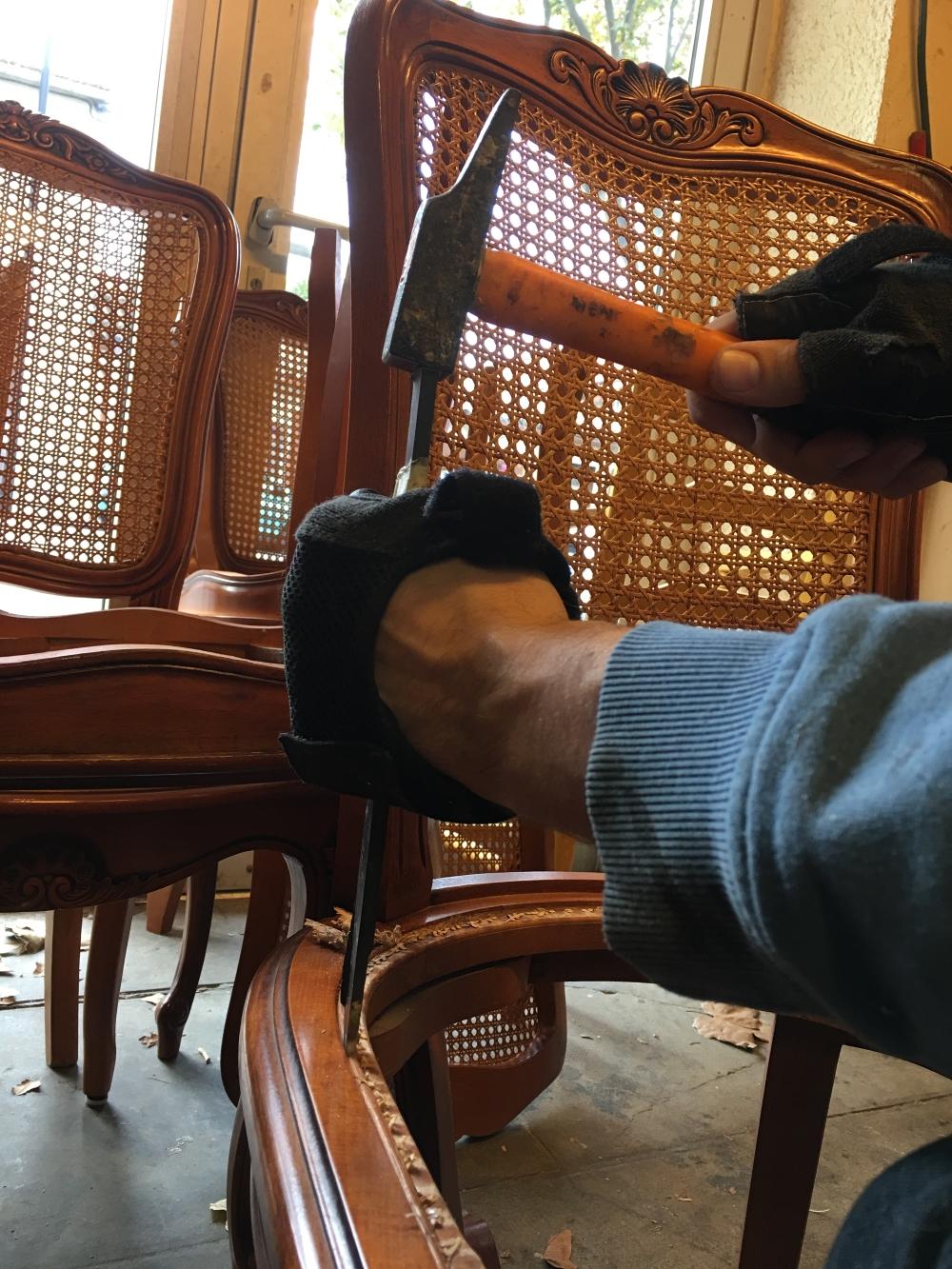 Comment Restaurer Une Chaise En Bois cannage de chaise prix nimes